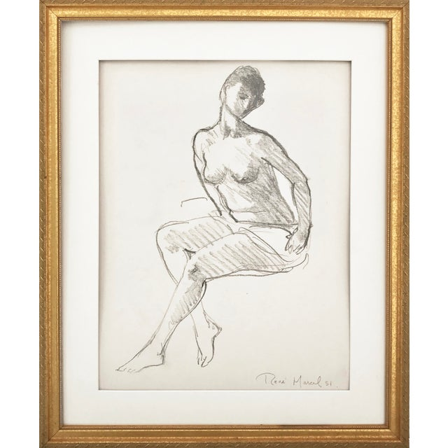 Vintage Figure Drawing by Rene Marcil - Image 2 of 6
