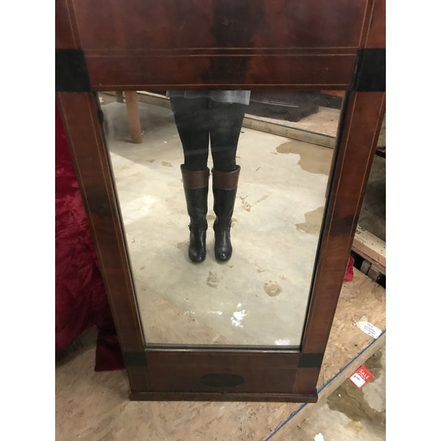 Americana Mid 19th Century Antique Tall Biedermeier Mirror For Sale - Image 3 of 6