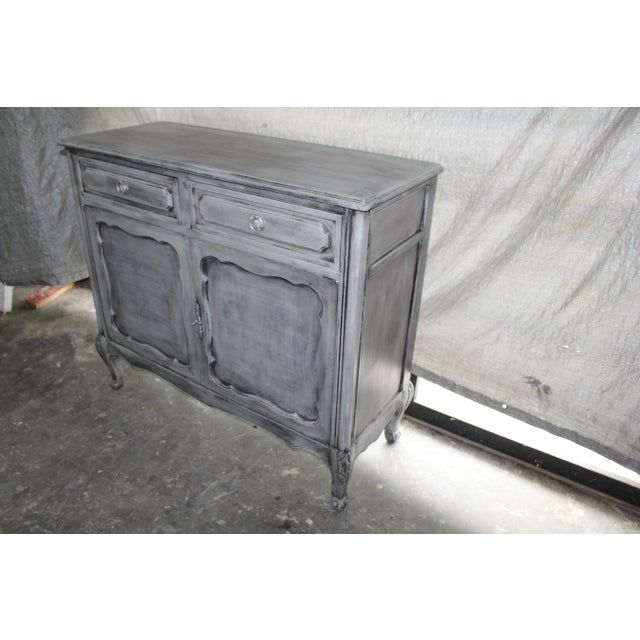 20th Century French Gray Oak Cabinet For Sale In Atlanta - Image 6 of 9