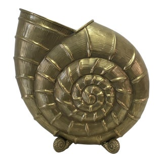 Solid Brass Nautilus Shell For Sale