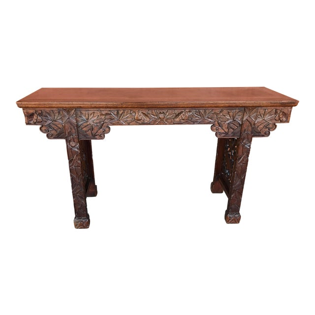 Chinese Carved Altar Table For Sale