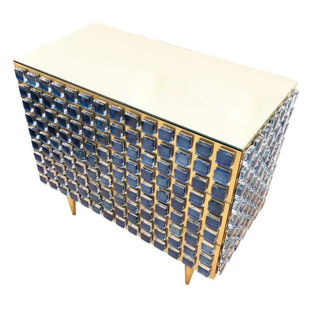 Contemporary Glass and Brass Chest / Cabinet by Interno 43 for Gaspare Asaro For Sale - Image 3 of 8