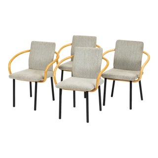 Set of Four Bamboo Mandarin Chairs by Ettore Sottsass for Knoll For Sale
