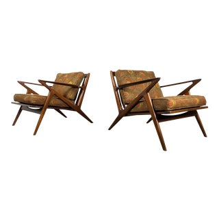 1950s Vintage Poul Jensen for Selig Z Chairs- A Pair For Sale