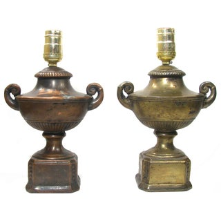 Antique Neoclassical Urn Lamps - A Pair For Sale