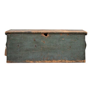19th Century Primitive New England Sea Chest For Sale