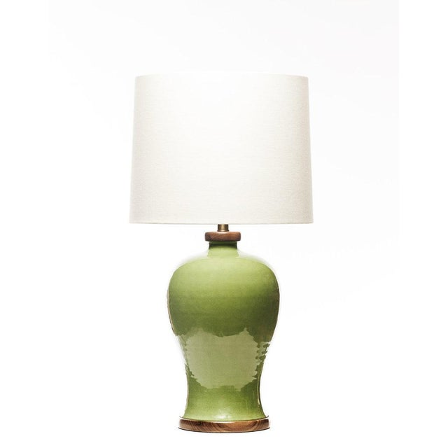 Chinese Lawrence & Scott Dashiell Table Lamp in Celadon For Sale - Image 3 of 3