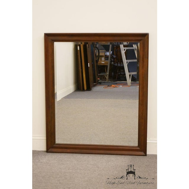 Traditional Cresent Solid Cherry Mirror For Sale - Image 3 of 7
