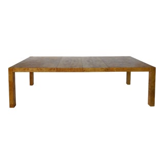 1970s Modern Age Furniture Burlwood Dining Table For Sale