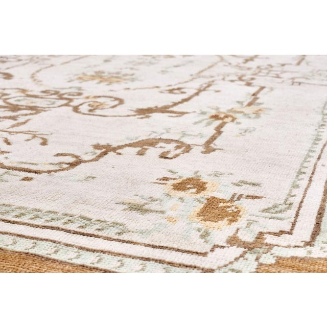 Islamic Vintage Brown Turkish Area Rug 7' X 11' For Sale - Image 3 of 6