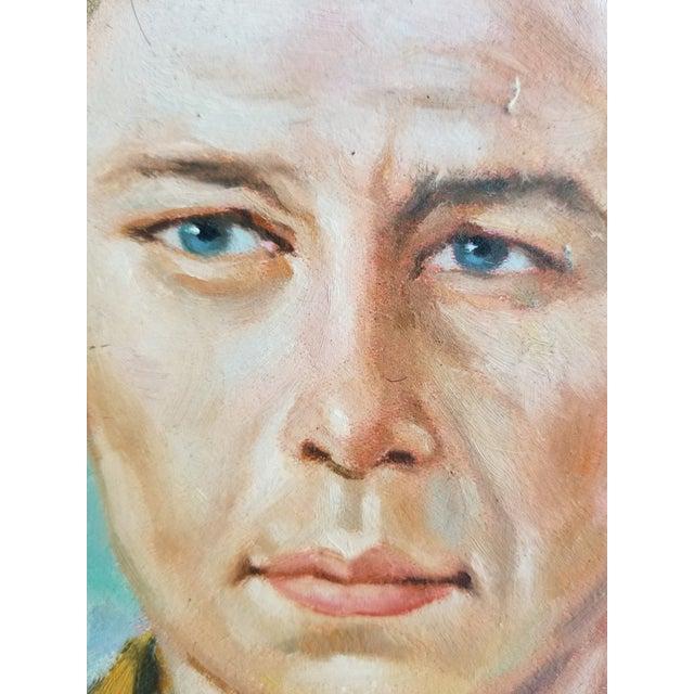 Mid Century Male Oil Portrait - Image 4 of 7