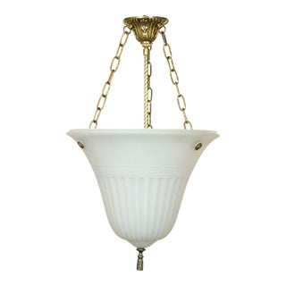Elongated Glass Bowl Fixture For Sale