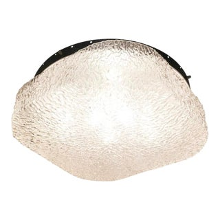 Large Murano Glass Flush Mount For Sale