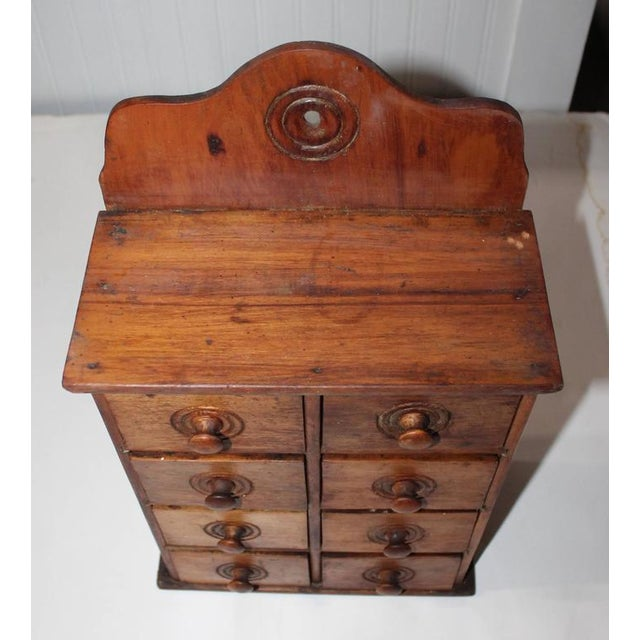 19th Century Wall Hanging Spice Cabinet - Image 7 of 7