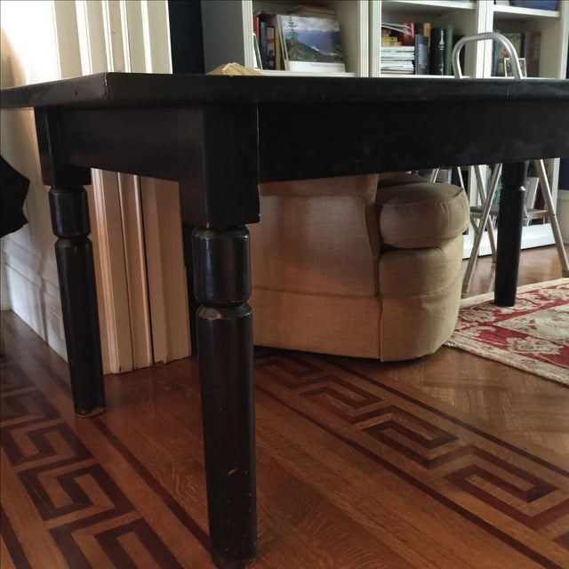 Black Lacquered Solid Oak Dining Table - Image 4 of 5