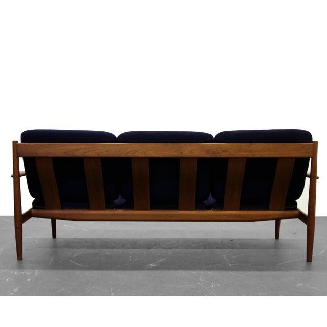 1960s Solid Danish Teak Slat-Back Sofa by Grete Jalk for France & Son For Sale - Image 5 of 9