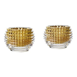 Contemporary Baccarat Crystal Eye Votives - a Pair For Sale