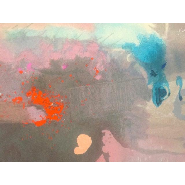 "Purple Helen Frankenthaler Rare Lmtd Edtn Original Hand Pulled Silkscreen Print "" Grey Fireworks "" 1982 For Sale - Image 8 of 13"