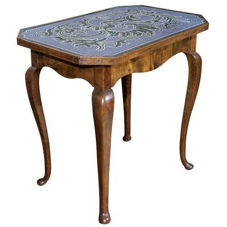 Traditional 18th C. Austrian Hand Beaded Occasional Table For Sale - Image 3 of 3