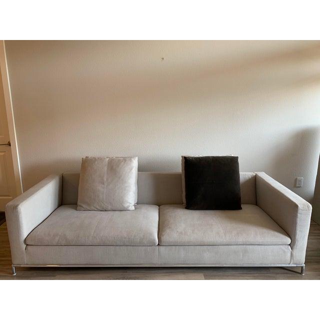 Iconic George sofa by B&B Italia modern lines and metal frame.