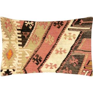 "Nalbandian - 1960s Turkish Kilim Pillow - 18"" X 26"" For Sale"