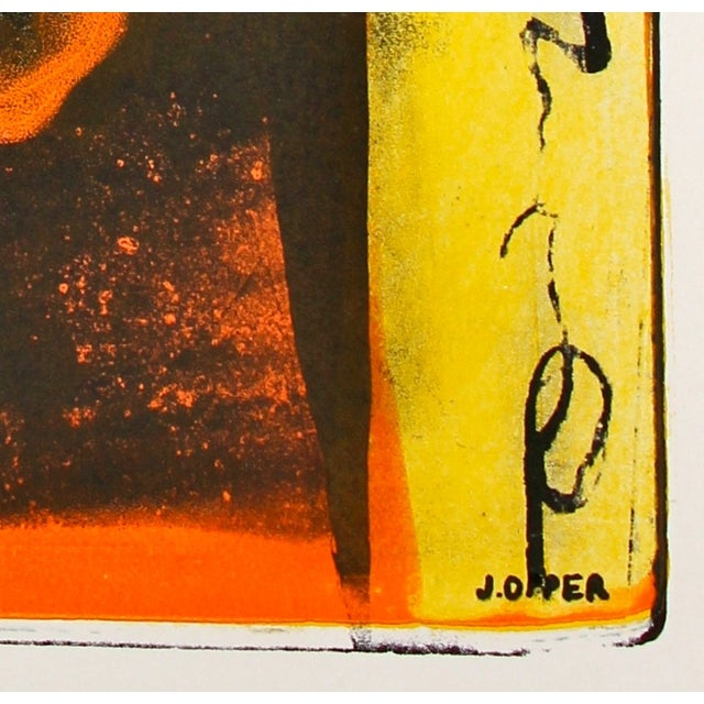 Jerry Opper Layered Mid Century Lithograph - Image 2 of 3