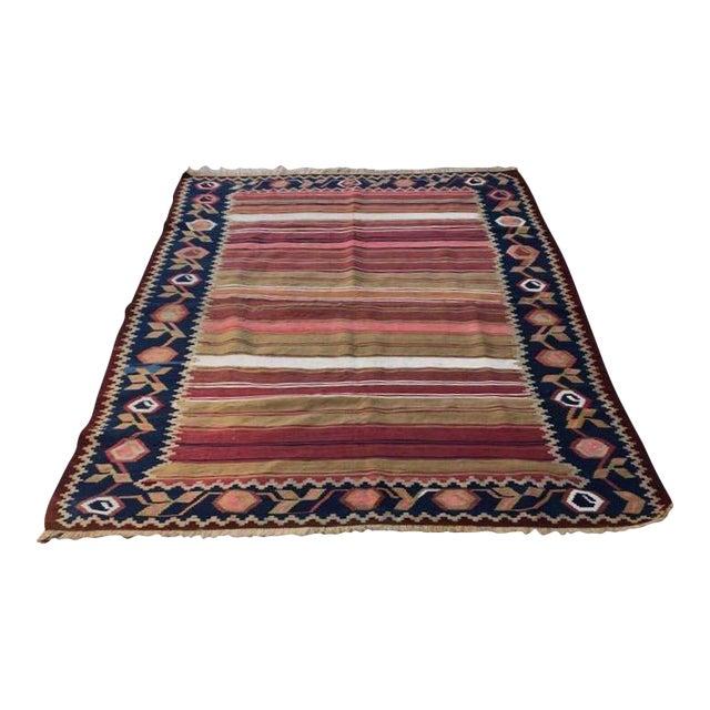Vintage Turkish Anatolian Kilim Wool Rug - 3′11″ × 6′5″ For Sale