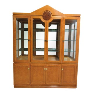 Biedermeier Hickory White China Cabinet For Sale