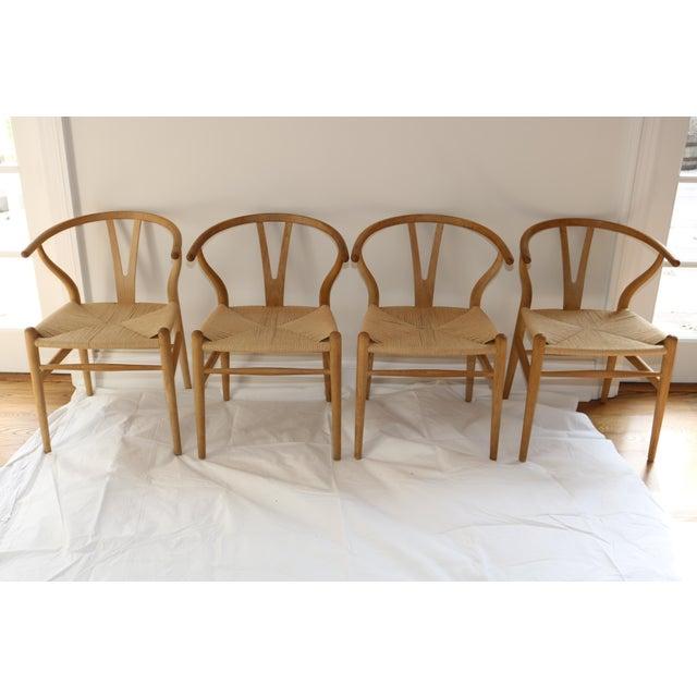 Carl Hansen Hans Wegner for Carl Hansen & Son Ch24 Wishbone Chairs - Set of 8 For Sale - Image 4 of 13