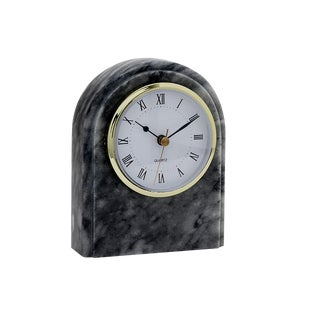 Gray Marble Desk Clock
