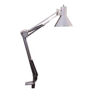 1960s Italian Luxo White Desk Lamp For Sale