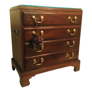 1990s Vintage Mahogany & Cherry Chippendale Style Bachelor's Chest