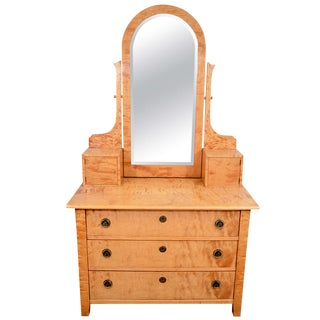 Art Nouveau Vanity With Chest of Drawers For Sale