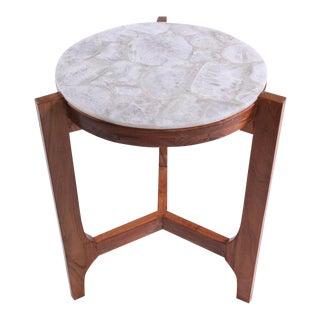 Crystal Agate Backlit Side Table For Sale