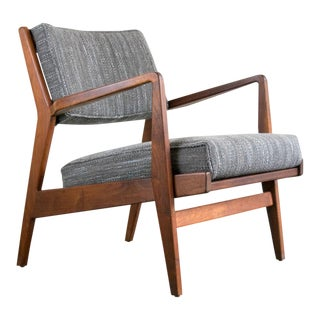 Jens Risom 'Caribe' Mid-Century Lounge Chair, Restored For Sale