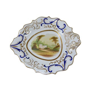 1840s Hand-Painted Porcelain Dish For Sale