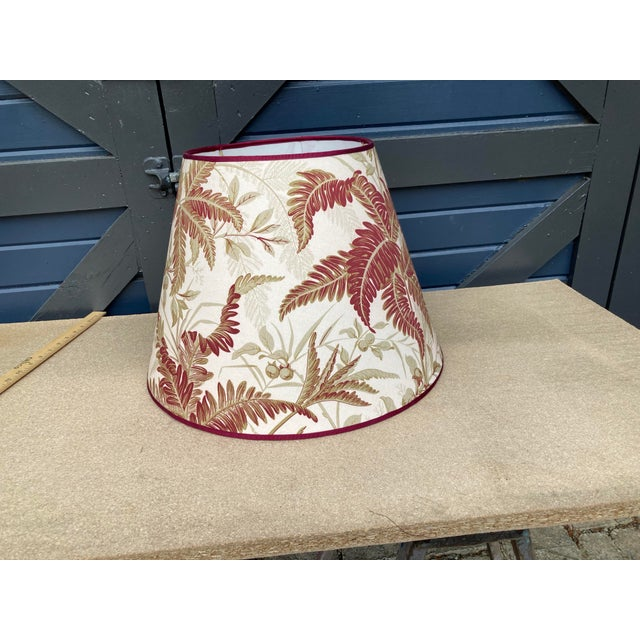 Red and Green Fern Botanical Print Lampshade For Sale In Philadelphia - Image 6 of 6