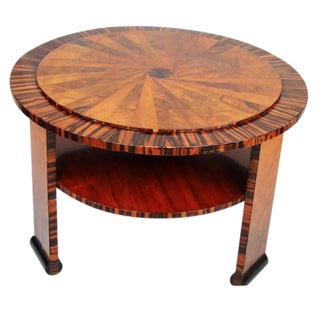 1930's Art Deco Round Side Table For Sale