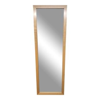 Contemporary Maple Floor Mirror