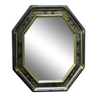 Antique Italian Ebonized and Parcel Gilt Mirror For Sale