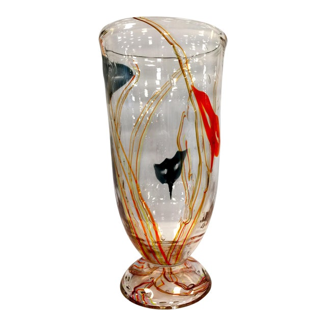 Murano Glass Vase by Elio Raffaeli Carnaval For Sale