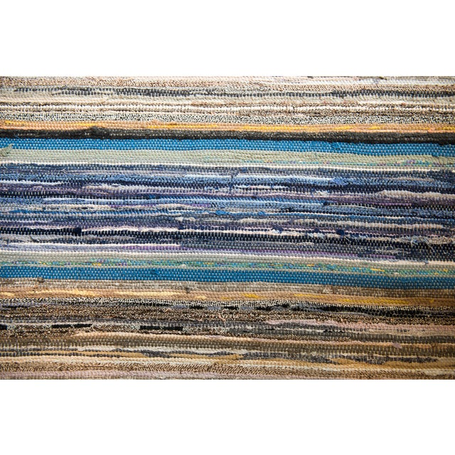 This is a one-of-a-kind rug, designed by a highly skilled Swedish weaver and artisan, woven on a wooden loom in the...