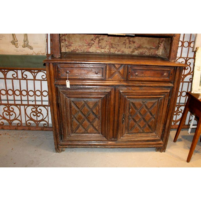 French 19th Century French Walnut 4 Door Cabinet For Sale - Image 3 of 11
