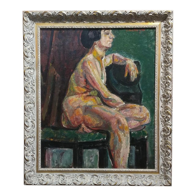 Exceptional Pinchus Kremegne -Femme Seated Nude - Russian/French ...