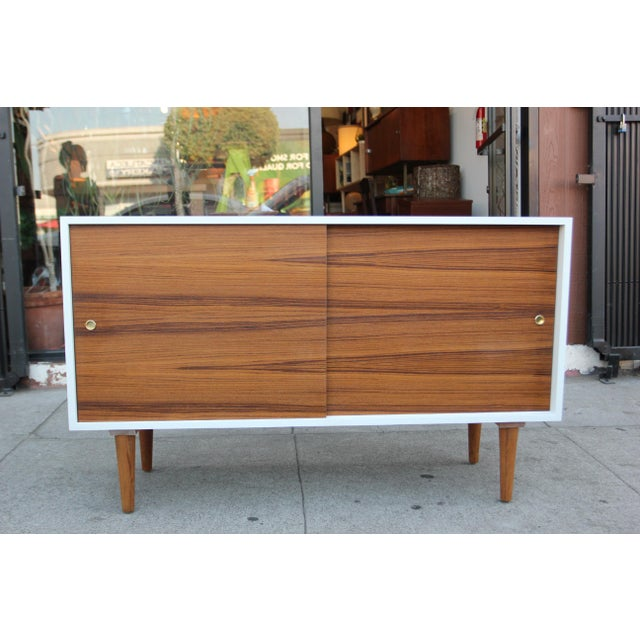 While Lacquered Credenza For Sale - Image 13 of 13