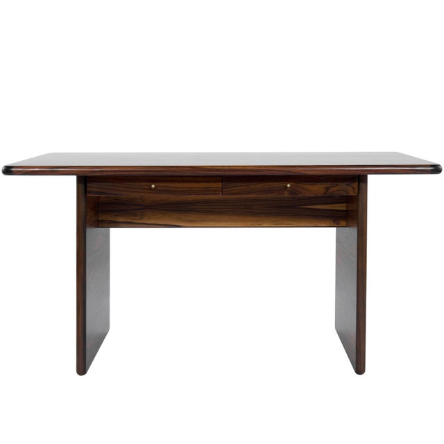 Danish Modern Rosewood Desk For Sale - Image 10 of 10
