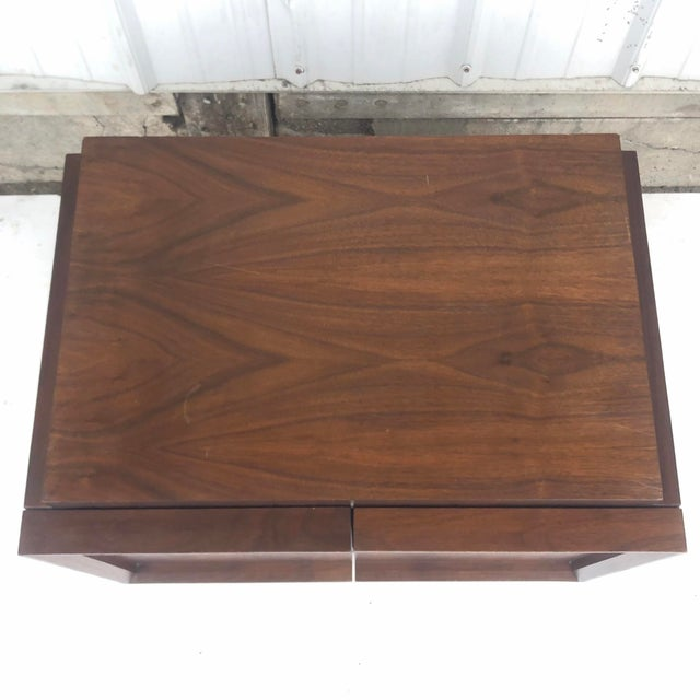 Brown Mid-Century Brutalist Nightstand For Sale - Image 8 of 13
