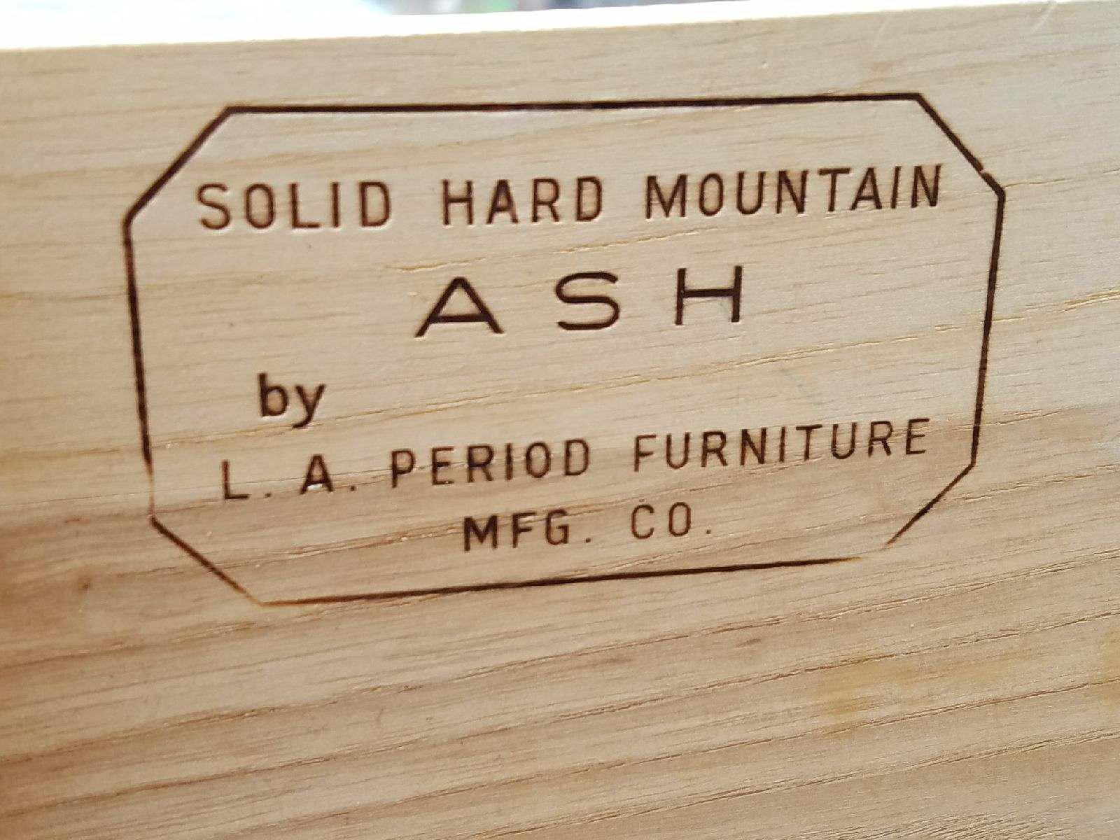 Vintage Mid Century Solid Ash Wood Dresser By La Period Company   Image 4 Of