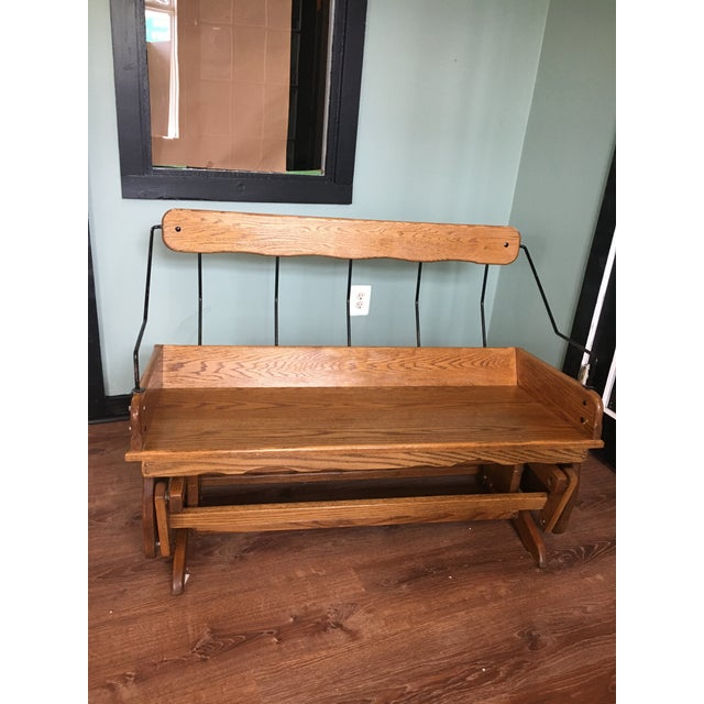 American Antique Carriage Seat Glider Bench For Sale - Image 3 of 13