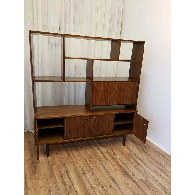 1960s 1960s Mid Century Bookcase For Sale - Image 5 of 13